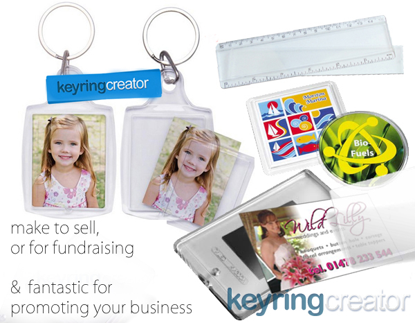 make keyrings fridge magnets coasters and more with keyring creator personalised gifts software